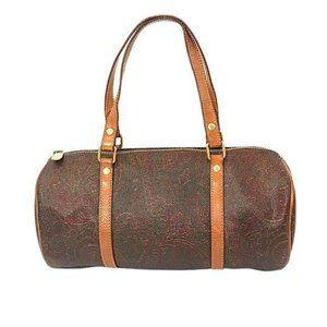 Vintage Etro Papillon Paisley Barrel Bag
